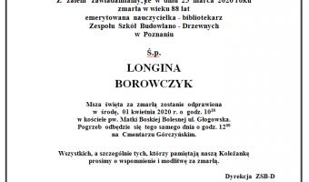 Wspomnienie o ś.p. Longinie Borowczyk ....